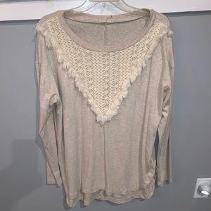 Entro sweatshirt with fringe detail